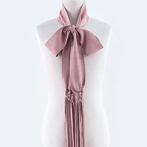 Accessories - 🆓🎁 Millennial Pink Suede Skinny Scarf